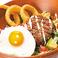 料理メニュー写真イベリコハンバーグの特製ロコモコ