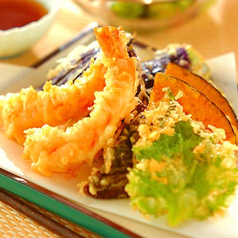 【名物コース】天ぷら盛りや地鶏ステーキなど『味の蔵極上コース』3h飲み放題付11品⇒4480円