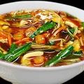 料理メニュー写真トマト入り黒酢 酸辣湯麺(スーラータンメン)