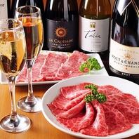 豊富な飲み放題はワインはもちろん、果実酒やマッコリも