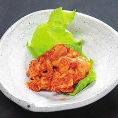 たこわさび/こりこりと皮ポン酢和え/完熟トマトスライス/キムチ