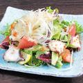 料理メニュー写真タコとトマトの森崎農園サラダ