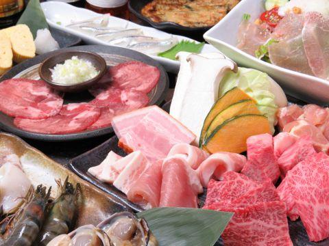 食べ飲み放題 150分 焼肉定番コース 男性5300円/女性4300円