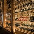 種類豊富に取り揃える圧巻のワインセラー