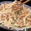 料理メニュー写真納豆サラダ