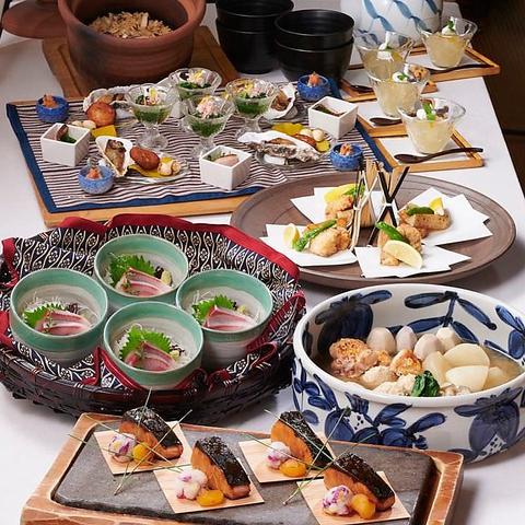 飲み放題付のコースが5,200円でお得!!お料理7品+飲み放題付和食コース