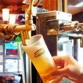 ★当店のハウスビール・サッポロ黒ラベル★¥480~どんな食事にも合うベストセラー。とりあえずの1杯に間違いなし!!