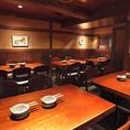 店内は、大小テーブル席や個室・カウンター席が配されたゆとりの空間が広がっています。ご利用シーンに合わせたお席にご案内致します♪