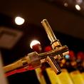 「シュラスコB」の生ビールは「プレミアムモルツ」を使用しています。シュラスコと一緒に贅沢気分が味わえます♪