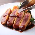 料理メニュー写真牛サーロインの特選ビフカツランチ