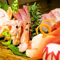 料理メニュー写真豪華な刺身5種盛り