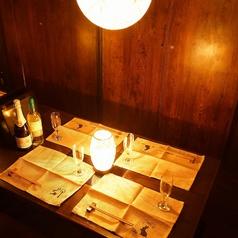 ◇◆ゆったりとくつろげる掘りごたつ式完全個室【4名席】◆◇完全プライベート空間で素材にこだわり抜いた自慢の料理をご堪能下さい。ヘルシー野菜や豊富なデザートメニューなどを多数ご用意しております♪宴会にオススメのコースが多数ございます!