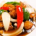 料理メニュー写真やわらか黒酢の酢豚
