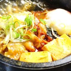 たっぷりあさりの酒蒸し/アツアツ石焼き麻婆豆腐/石焼旨辛チゲ鍋