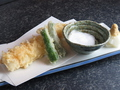 料理メニュー写真穴子の天麩羅