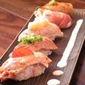 料理メニュー写真芳寿豚網焼SUSHI(ロース・タン・モモ・バラ・生ハム)