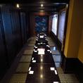 最大18名様まで対応可能な個室です。その他プライベートな個室も充実!