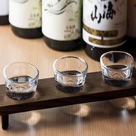 アラカルト飲み放題や日本酒飲み比べセットがお勧め