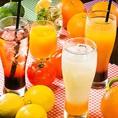 ソフトドリンクもたくさんご用意♪スコール・マンゴージュース・日向夏ジュースなどビタミンもたくさん摂れます!