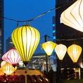 ランタン祭り用の本格的な照明演出