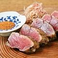 料理メニュー写真名物まぐろ藁焼