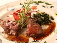 料理メニュー写真仔牛フィレ肉のソテー