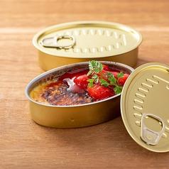 料理メニュー写真38缶 季節果実のクリームブリュレ風カタラーナ
