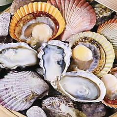 牡蠣とひおうぎ貝の日本酒たっぷり瞬間蒸し