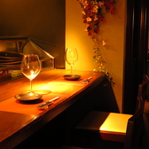 食材や調理風景を見ながらお食事をお愉しみください