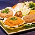 料理メニュー写真三色つみれちゃんこ (醤油・麦味噌)