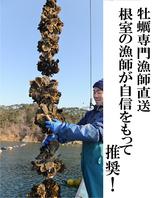 牡蠣専門漁師が毎回手詰めで発送!