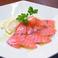 料理メニュー写真サーモンイタリア岩塩仕立て