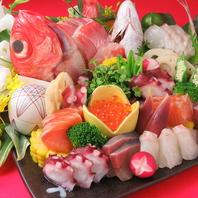 その時期、旬の鮮魚を豪華お造りで。