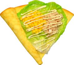 料理メニュー写真ツナコーンサラダクレープ