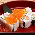 サーモンイクラこぼれ寿司