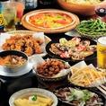 お得な食べ飲み放題付きコース!当店の自慢の一つが、とってもお得な食べ飲み放題のコース!こちらは2980円~ご用意しております!チキンやポーク、リブロースのステーキが食べ放題のコースもございます!!記念日などのお祝いのお席にも◎