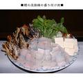 料理メニュー写真要予約・・鱧料理は3コースの料理でご提供してます。脂がのって美味しい鱧です。税別6500円は鱧鍋の価格