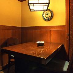 2名様用の個室席です。周りの目を気にせず、ゆっくりお過ごし頂けます!雰囲気抜群の店内で、当店自慢の串焼きを片手に、くつろぎのひとときを・・♪