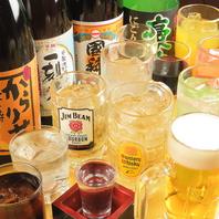 人気の地酒から定番のお酒まで豊富なドリンクを楽しむ!