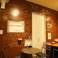 壁には常連様に書き込んでいただいた、オススメメニューの落書きでいっぱい☆新たに常連様になっていただいたお客様ももちろん書いていただいてもOKです!