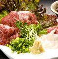 料理メニュー写真熊本産馬刺