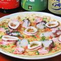 料理メニュー写真漁師のピザ