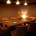 《女子会におすすめなお席!》8名様~10名様までご利用いただけるこちらのテーブル完全個室は周りを気にせず存分に楽しいひとときをお過ごしいただけます!