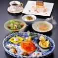 【ランチ】「シーズン・へるしい膳」和食店の本格フレンチの見ても鮮やかな、野菜たっぷりのお膳です。◎季節の野菜料理・サラダ・変り御飯・スープ・デザート・コーヒー※写真とイメージが異なる場合がございます。