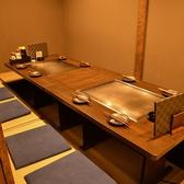 8名用の掘りごたつ完全個室席。