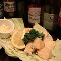料理メニュー写真鶏モモの塩唐揚げ