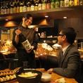 豊富な日本酒・焼酎を気軽に楽しめます。特に力を入れているのが、九州産のお酒。ふだん味わうことのできないお酒を取り揃え。お気に入りの一杯を見つけてみてはいかがでしょうか。