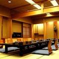お部屋は上下左右に仕切られた「完全個室」。お食事会・接待・顔合わせなど様々なシーンでのご利用に最適です。
