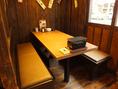6名様向けのテーブル席。