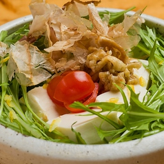料理メニュー写真香り柚子の豆富サラダ